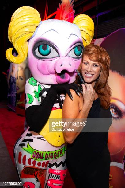 QWERRRK and Angie Everhart attend Richard Bernstein 'STARMAKER' Book Launch Party at Public Arts on September 5 2018 in New York City