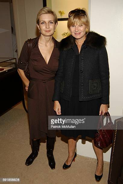 and Anne McNally attend Isabelle Huppert Luncheon at The Cartier Mansion on October 20 2005 in New York City