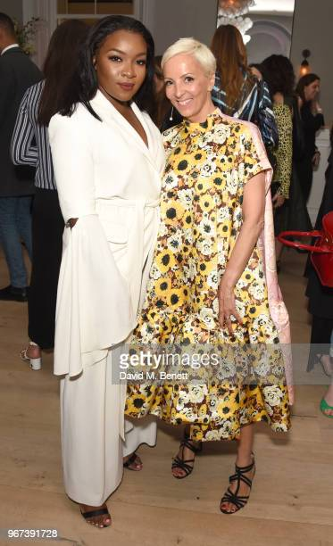 and AnneMarie Curtis attend THE ELLE LIST 2018 in association with THEOUTNETCOM at Spring at Somerset House on June 4 2018 in London England