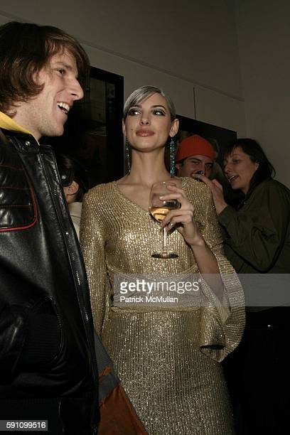 and Aria Pullman attend Edie Sedgwick Unseen Photographs of a Warhol Superstar Opening Reception Hosted by Misha Sedgwick at Gallagher's Art and...