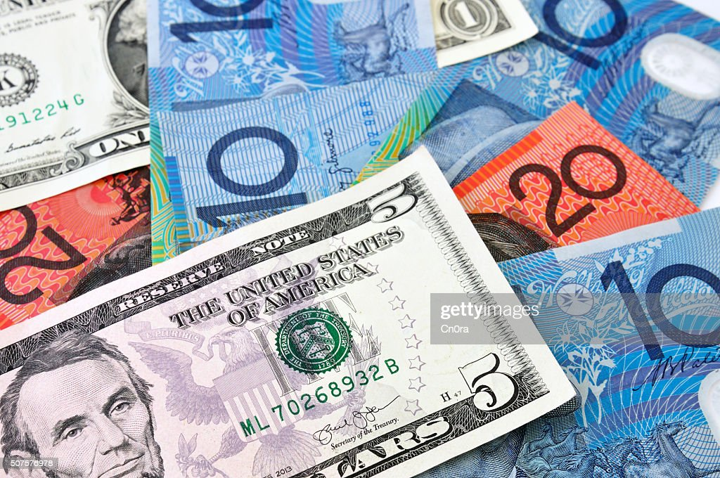 Usa And Australian Dollar Stock Photo