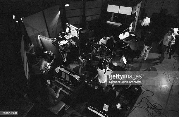 And B and Soul singer Wilson Pickett and engineer Tom Dowd chat with the musicians during a recording session at the Muscle Shoals Sound Studio on...