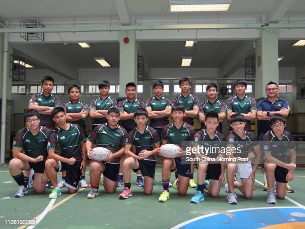 A and B grade rugby team players of Choi Hung Estate Catholic Secondary School Kwok Mingtsun Chan Kachun Tam Chunyip Kenneth Li Sauping Mak Kwaichung...