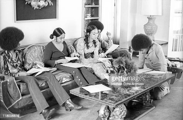 R and B group The Sylvers at home on June 29 1972 in Los Angeles California