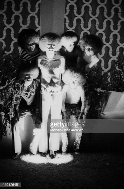 R and B group The Sylvers backstage at Caesar's Palace on June 9 1972 in Los Angeles California