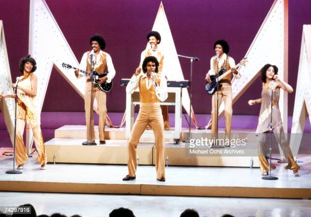 R and B group The Sylvers perform on a TV show circa 1972 in Los Angeles California