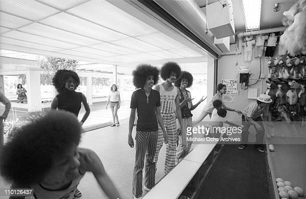 R and B group The Sylvers play games at Magic Mountain on June 22 1973 in Valencia California