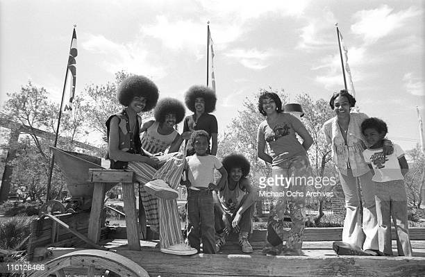R and B group The Sylvers pose for a portrait at Magic Mountain on June 22 1973 in Valencia California