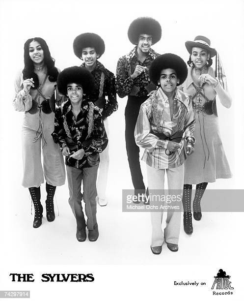 R and B group The Sylvers pose for a portrait in 1972 in Los Angeles California