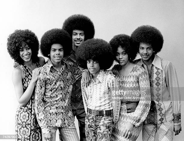 R and B group The Sylvers pose for a portrait in their backyard on February 23 1972 in Los Angeles California