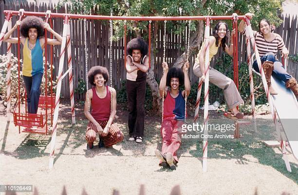 R and B group The Sylvers pose for a portrait in their backyard on June 29 1972 in Los Angeles California