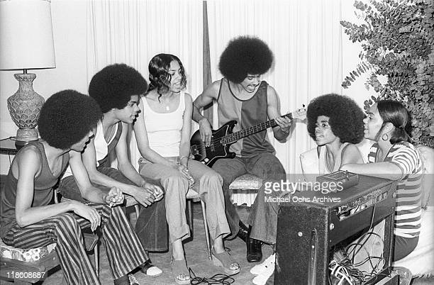 R and B group The Sylvers rehearse at home on June 29 1972 in Los Angeles California