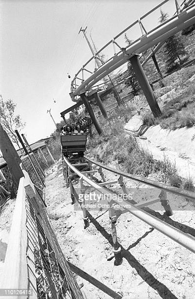 R and B group The Sylvers ride a rollercoaster at Magic Mountain on June 22 1973 in Valencia California