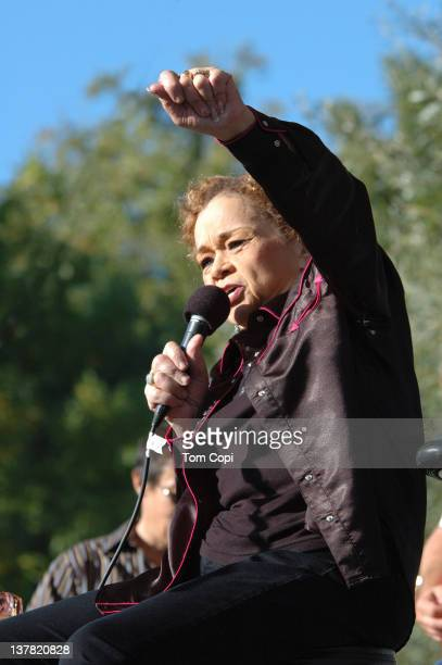 And B singer Etta James performs at the Russian River jazz Festival on September 10, 2006 in Guerneville, California.