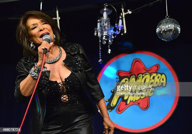 R and B singer Freda Payne performs at Amoeba Records on November 18 2015 in Los Angeles California