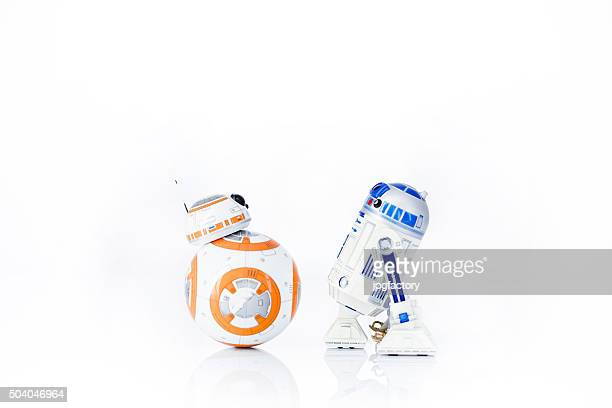r2-d2 and bb-8 - star wars stock pictures, royalty-free photos & images