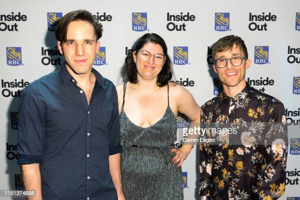 And BEN BAUR, ACTOR on the Rainbow Carpet at the 2019 Inside Out LGBT Film Festival Opening Night Gala at TIFF Bell Lightbox on May 23, 2019 in...
