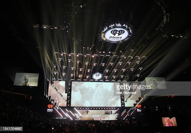And Billie Eilish perform during the 2021 iHeartRadio Music Festival at T-Mobile Arena on September 18, 2021 in Las Vegas, Nevada.