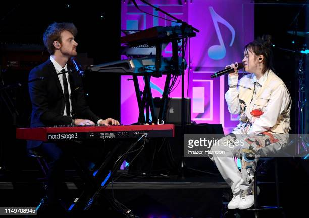 FINNEAS and Billie Eilish perform onstage during the 36th annual ASCAP Pop Music Awards at The Beverly Hilton Hotel on May 16 2019 in Beverly Hills...