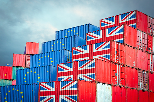 EU and British cargo containers 1082929466