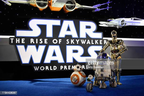 """And C-3PO arrive for the World Premiere of """"Star Wars: The Rise of Skywalker"""", the highly anticipated conclusion of the Skywalker saga on December..."""