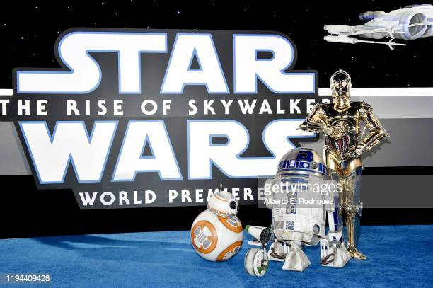 BB8 R2D2 and C3PO arrive for the World Premiere of Star Wars The Rise of Skywalker the highly anticipated conclusion of the Skywalker saga on...