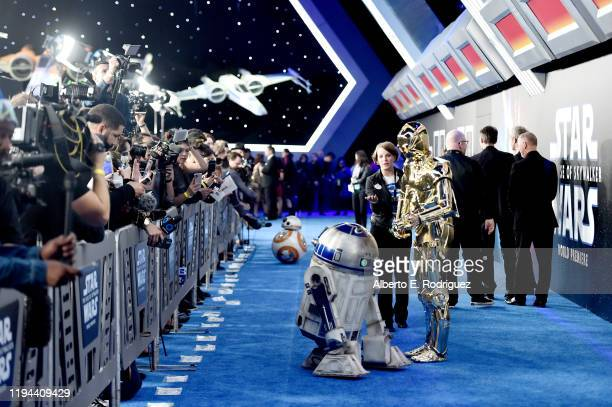 "And C-3PO arrive for the World Premiere of ""Star Wars: The Rise of Skywalker"", the highly anticipated conclusion of the Skywalker saga on December..."