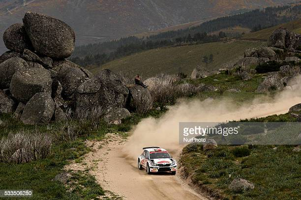 CAMPOS and CARLOS A MAGALHÃES in SKODA FABIA R5 of team MIGUEL JORGE RIBEIRO DE CAMPOS in action during the SS11 Marao of the WRC Vodafone Rally...