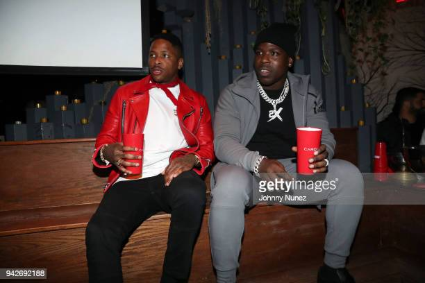 and Casanova attend the Cardi B Silent Listening Party on April 5 2018 in New York City