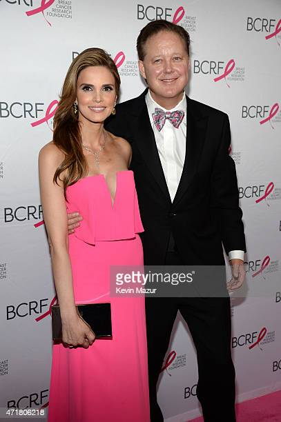 CEO and Chairman Brian France and wife Amy France attend Breast Cancer Research Foundation's Hot Pink Party The Pink Standard at Waldorf Astoria...