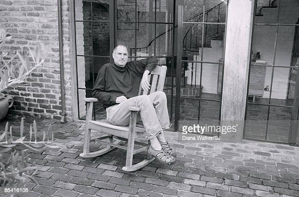 CEO and chairman of Apple Steve Jobs at his Palo Alto home for Time Magazine December 7 2004