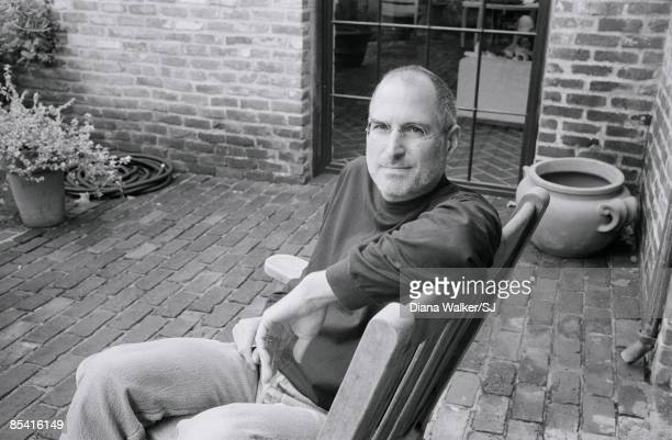 CEO and chairman of Apple Steve Jobs at his Palo Alto home for Time Magazine December 7 2004 Photographed after his first operation for cancer