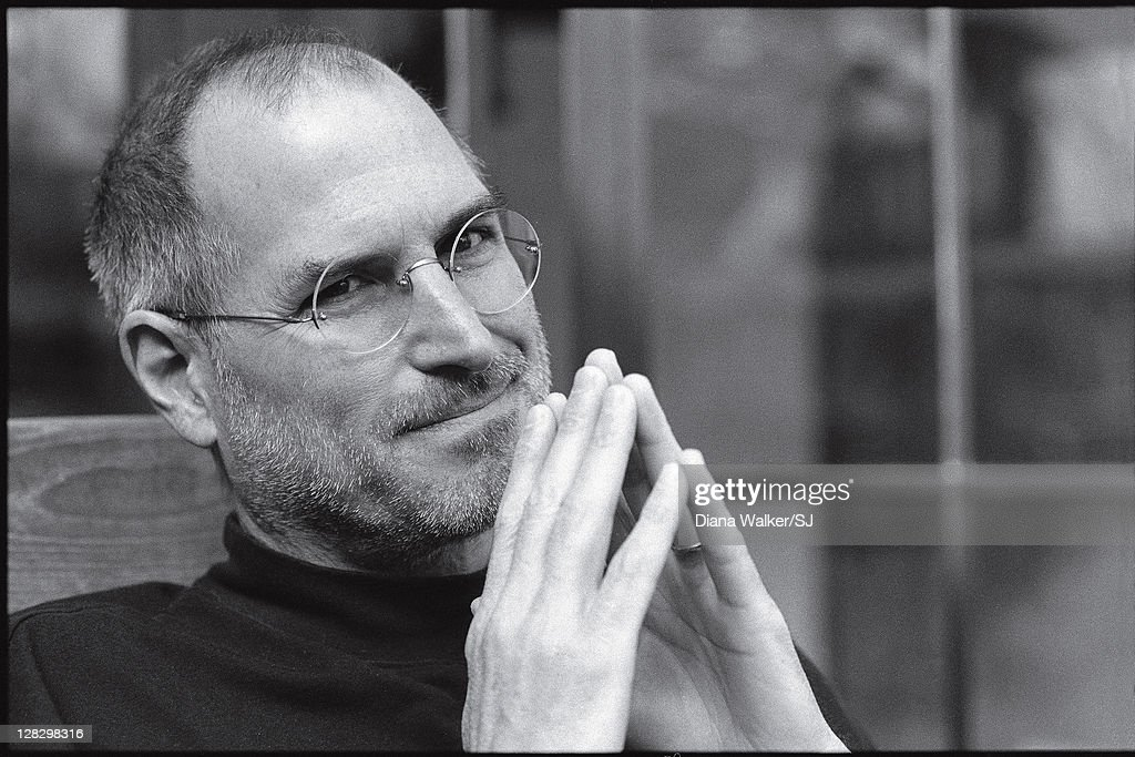 CEO and chairman of Apple, Steve Jobs is photographed at home for Time Magazine on December 7, 2004 in Palo Alto, California. Steve Jobs told Diana Walker, 'The year of my surgery... It definitely orders your priorities. My son was twelve at the time. My father had almost died when I was twelve, so I know what he was going through. It was very tough, but it brought us all closer together.' PUBLISHED