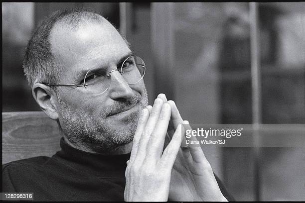 CEO and chairman of Apple Steve Jobs is photographed at home for Time Magazine on December 7 2004 in Palo Alto California Steve Jobs told Diana...