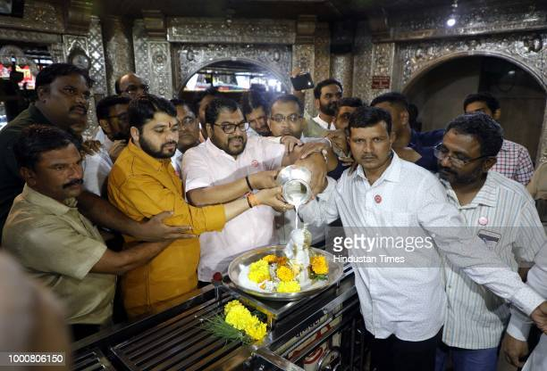MP and chairman of Swabhimanu Shetkari Sanghatana Raju Setty offered milk at Dagdusheth Ganpati Temple before starting Milk Block Agitation on July...