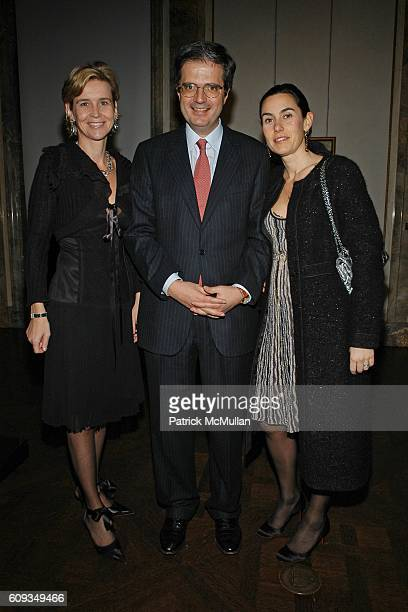 and Charlotte Sarkozy attend Madame Jacques Chirac Madame Georges Pompidou Mr Ronald Lauder and Mrs Randolph Hearst Host a Private Dinner to Benefit...
