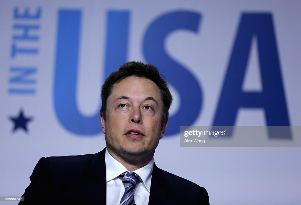 CEO and chief designer of SpaceX Elon Musk speaks at the 2014 annual conference of the Export-Import Bank (EXIM) April 25, 2014 in Washington, DC. The two-day event focused on global business environment and prospects for growth.