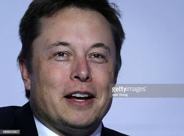 CEO and chief designer of SpaceX Elon Musk speaks at the 2014 annual conference of the ExportImport Bank April 25 2014 in Washington DC The twoday...