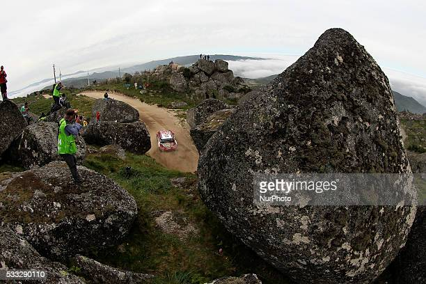 QASSIMI and CHRIS PATTERSON in CITROEN DS3 WRC of team ABU DHABI TOTAL WORLD RALLY TEAM in action during the SS11 Marao of the WRC Vodafone Rally...