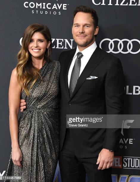 and Chris Pratt arrives at the world premiere Of Walt Disney Studios Motion Pictures Avengers Endgame at Los Angeles Convention Center on April 22...