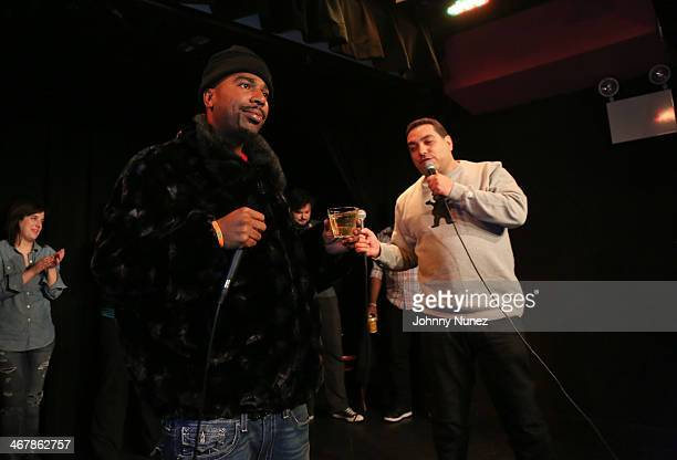 NORE and Cipha Sounds attend Take It Personal Featuring NORE A Big Pun Tribute at USB Headquarters on February 7 2014 in New York City