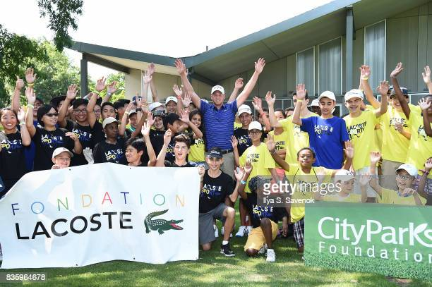 LACOSTE and City Parks Foundation host youth golf clinic with PGA TOUR Player Daniel Berger on August 20 2017 in New York City