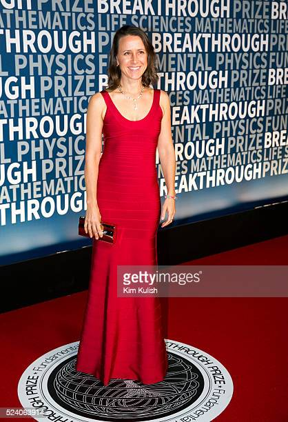 CEO and CoFounder Anne Wojcicki of genetic testing company 23andMe arrives at the third annual Breakthrough Prize Ceremony at the NASA Ames Research...