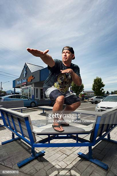 CEO and cofounder of Dutch Bros Travis Boersma is photographed for Forbes Magazine on June 1 2016 in Grants Pass Oregon PUBLISHED IMAGE CREDIT MUST...
