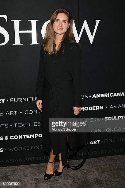 CEO and CoFounder of FEED Projects Lauren Bush Lauren attends the 2016 New York Art Antique Jewelry Show FEED Preview Party at Pier 94 on November 9...