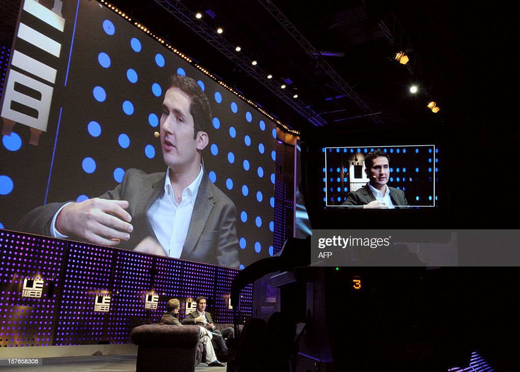 CEO and co-founder of Instagram Kevin Systrom attends a session at LeWeb Paris 2012 in Saint-Denis, near Paris on December 5, 2012.
