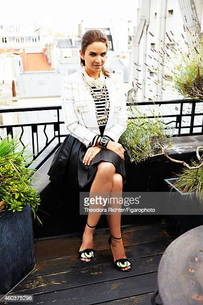CEO and cofounder of The Webster Laure Heriard Dubreuil is photographed for Madame Figaro on September 21 2014 in Paris France Jacket bracelet and...
