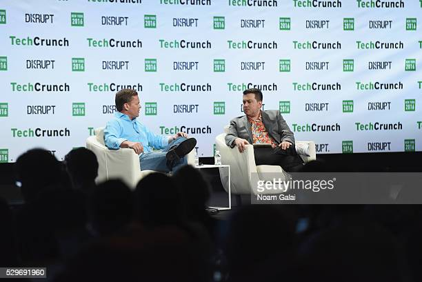 CEO and cofounder of Viv Dag Kittlaus and Editor in Chief at TechCrunch Matthew Panzarino speak onstage during TechCrunch Disrupt NY 2016 at Brooklyn...
