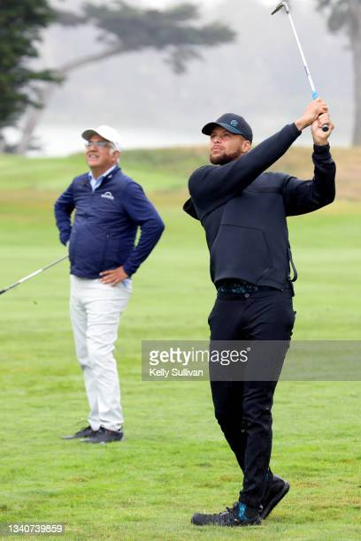 And Co-Founder of Workday Aneel Bhusri and Stephen Curry attend The Workday Charity Classic, hosted by Stephen and Ayesha Curry's Eat. Learn. Play....