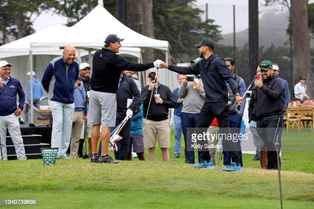And Co-Founder of Workday Aneel Bhusri, Michael Wilbon, Phil Mickelson, and Stephen Curry attend The Workday Charity Classic, hosted by Stephen and...